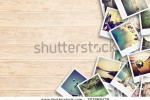 stock-photo-frame-with-old-paper-and-photos-objects-over-wooden-planks-301869479